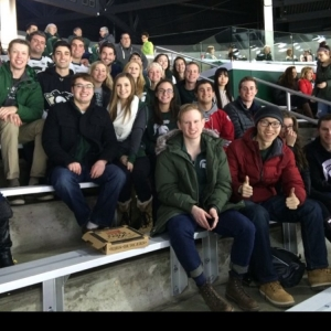 We had a great time at the @msu_hockey game tonight