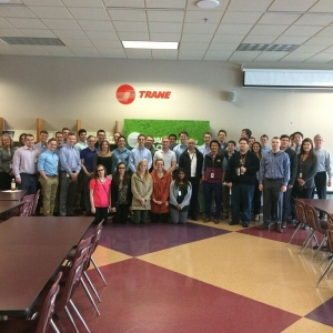 Last tour of Spring Trip is complete! Thank you @trane @ingersollrand for having us!